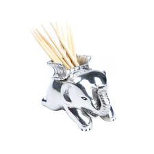 Pewter Toothpick Holder Elephant Tableware Home Decor.