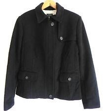J. Crew Wool Winter Jacket/Coat Size 10 Black  Zipper Button