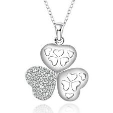 Enfants Communion † Confirmation cœur pendentif avec chaîne argent 925 NEUF