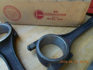 STUDEBAKER 1947-48 COMMANDER CONNECTING RODS THREE NOS