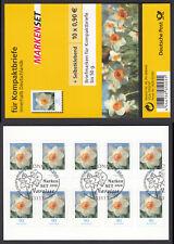 Bund Folienblatt 1 a gest. Blumen Narzisse 2008 10 x Nr.2515  ESST Bonn