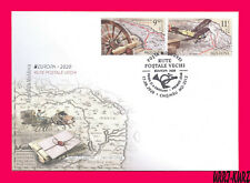 MOLDOVA 2020 Europa CEPT Ancient Air & Ground Mail Postal Routes Plain Maps FDC