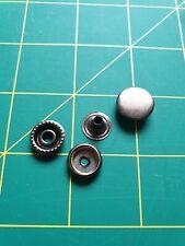 15mm 4 Piece Metal Snap Button Press Stud Fastener Pack