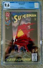 New ListingSuperman #75 Cgc 9.6 Death Of Superman 1st Printing! With Pin!