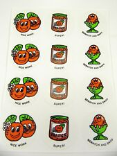 12 Vintage Sniffys CTP ORANGE Sheet ERROR  NOT Stinky Scratch Sniff Stickers