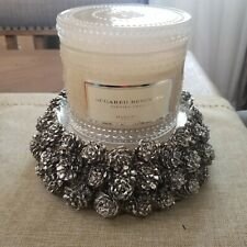 HomeWorx by Harry Slatkin Pinecone Pedestal Candle Holder