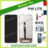 VITRE TACTILE + ECRAN LCD PRET-A-MONTER POUR HUAWEI P40 LITE NOIR + OUTILS/COLLE