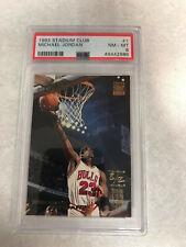 1993-94 Topps Stadium Club Michael Jordan #1 PSA 8 Chicago Bulls Triple Double