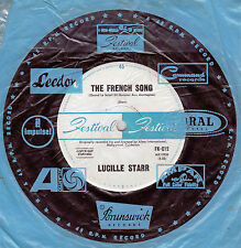 LUCILLE STARR The French Song / Sit Down And Write A Letter To Me - 45