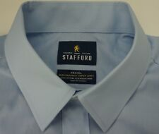 Stafford Travel Wrinkle Free Oxford Button Front Men's Dress Shirt 16 1/2 32/33