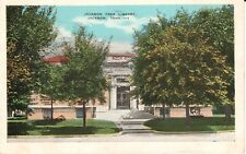 1935 The Jackson Free Library in Jackson, TN Tennessee PC
