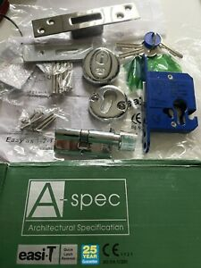 """Easi-T A Spec Euro Profile Cylinder Turn Deadlock 2.5"""" Complete Architectural"""