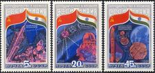 La RUSSIA SOVIETICA 1984-INDIAN Space Flight/Rocket/satellitare/RADIO piatto 3 V Set b4495
