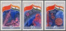 La RUSSIA SOVIETICA 1984-INDIAN Space Flight/Rocket/satellitare/RADIO piatto 3v Set b4495