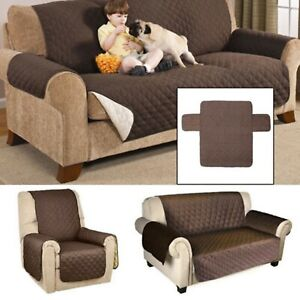 Sofa Cover Quilted Couch Covers Lounge Protector Slipcovers 1/2/3Seater Pet Do