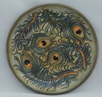 Moorcroft Phoenix plate - designed by Rachael Bishop - with impressed factory...