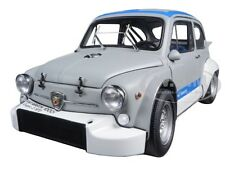 FIAT ABARTH 1000 TCR MATT GREY W/BLUE STRIPES 1:18 DIECAST MODEL AUTOART 72642