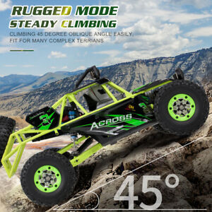 50km/h Wltoys 1/12 2.4G 4WD Electric Brushed Crawler RTR RC Car Truck High Speed