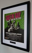 Green Day concert EMIRATES 2013 Framed Original NME-Plaque-Certificate V RARE