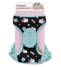 Pusheen Black Adjustable Cat Harness Lead Set, With Leash, New