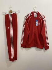Adidas Originals Superstar Tracksuit Red White, Jacket Size L Pants Size M