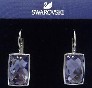 Swarovski NIRVANA Earrings Tanzanite Purple NWT 1144366