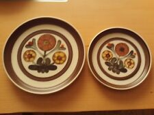 VINTAGE LANGLEY POTTERY ~ MAYFLOWER ~ X1 SALAD / DESSERT PLATE X1 SIDE PLATE