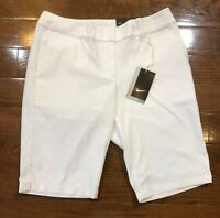 Women's Nike Golf Shorts Bermuda Length White 747135-100