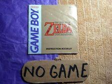 Zelda Link's Awakening GameBoy Manual