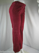 Women's Chadwick's Burgundy Leather Pants Size 6P NWT