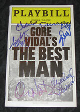 Signed Playbill THE BEST MAN Charles Durning,Spalding Gray,Chris North,Elizabeth