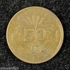 Japan 50 Sen Coin 1946, Japanese Showa Emperor Year 21