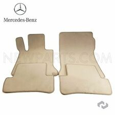 Mercedes 2012 204 C250 C300 Front & Rear Beige Floor Mat Set  2046802148658P90