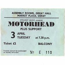 MOTORHEAD & GIRLSCHOOL Concert Ticket Stub LONDON UK 4/3/79 LYCEUM OVERKILL TOUR