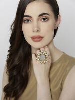 Engagement Finger Rings Gold Plated Adjustable Size Kundan Women Jewelry Set