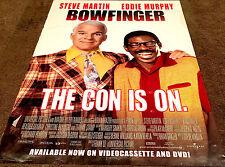 Bowfinger Movie Poster Steve Martin, Eddie Murphy Video Promo Poster 1999