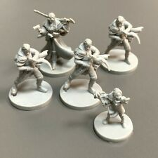 5 Pcs Grey heroes Monster Game Figure Fit For Dungeons & Dragon D&D Miniatures