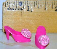 BARBIE DOLL PRETTY TREASURES SLIP ON SLIPPER SHOES VICTORIAN ROSE ON FRONT J76