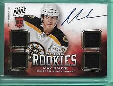 Max Sauve 2012-13 Panini Prime Rookies Quad Jersey #237/249 Bruins Black Hawks