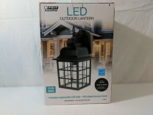 """Feit Electric LED Outdoor Lantern 15""""height Oil Rubbed Bronze FOR PARTS / BROKEN"""