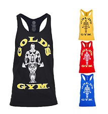 Golds Gym Vest Muscle Joe Stringer Bodybuilding Official Gold Tank Top Gym Shirt