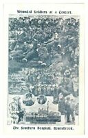 Antique military WW1 postcard Wounded Soldiers Southern Hospital Bournbrook