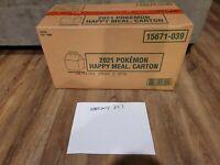 McDonalds 2021 Pokemon 25th Anniversary Promo Pikachu Happy Meal Boxes 280 ct