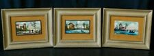 "Set of Vintage Oil Paintings Landscapes Coast Scene Framed Art Decor (8"" x 10"")"