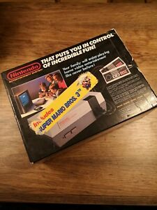 NINTENDO NES (1986) BOX ONLY - With styrofoam and manual - Made in Japan
