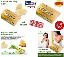 Luffa Soap Bar to clean dark spots dirt from Body Soap Whitening with Lemongrass