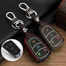 Genuine leather car key case for Cadillac XT5 ATS CT6 XTS SRX key Cover Fobs