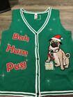 Bah Hum Pug Ugly Christmas Sweater Vest Womems Size Large Bin 20