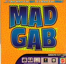 Mad Gab adults Party Game / Mattel 2005 complete & excellent
