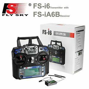 FlySky FS-i6 2.4ghz 6 Channel RC Transmitter Remote Controller FS-iA6B Receiver